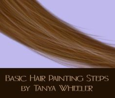 Basic Hair painting steps by Cellesria