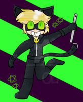 Chat Noir by Oliwiarzep