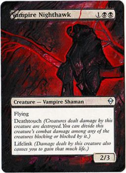Magic Card Alteration: Vampire Nighthawk 7/7 by Ondal-the-Fool