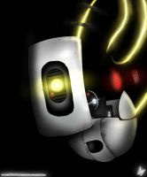 GLaDOS Glowing by InvaderChaoticCandy