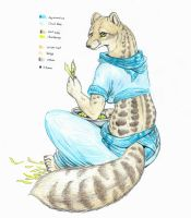 Striped Civet by Zaphkiellane