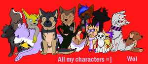 All my characters by Rexbn