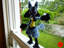 #448- Lucario Pipe Cleaner Figure (COMM) by PCWOverlord
