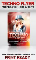 Techno Flyer by Cracuz
