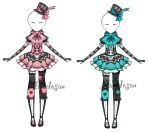 Loli outfit adoptable 1/2 by AS-Adoptables