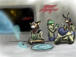 starfox at the break room by TechEnterprise
