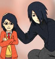 Sasuke and Sarada by naruto3119