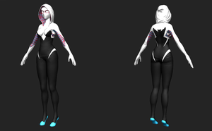 Spider-Gwen WIP by Cless-Aurion