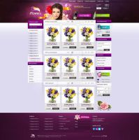Glamour Flowers Shop by justpixelweb