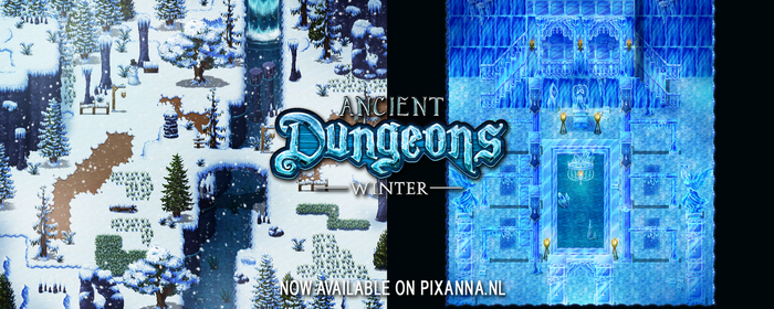 Ancient Dungeons: Winter tileset by PinkFireFly