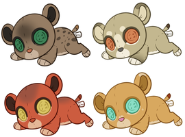 Plushie Cub Adopts by Amiookamiwolf