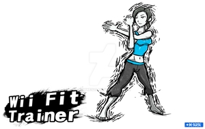 Smash Art- Wii Fit Trainer by Hawke525