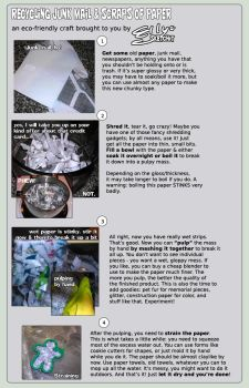 Making Paper from Junk Paper Tutorial by ellysketchit