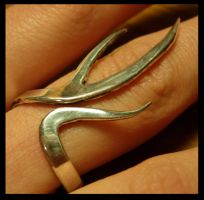 Antler Ring by LaughingScarab
