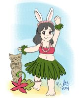 Hula Bunny Girl by lizstaley