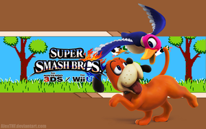 Duck Hunt Wallpaper - Super Smash Bros. Wii U/3DS by AlexTHF