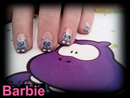 Hippo Nails by BarbieNailArt