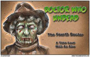Doctor Who: Undead  Tom Baker as a zombie by zombiecarter