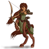 Sahral the Centaur Druid by LukkiStarr