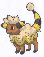 Mareep/Deerling Fusion by Yakalentos