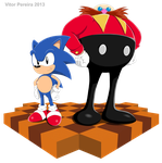 Sonic and Dr. Robotnik by ShadowBito