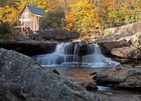 glade creek grist mill by tiny-sparrow