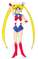 Sailor Moon pose by ZeFrenchM