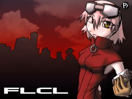 FLCL wallpaper by EshianFulika