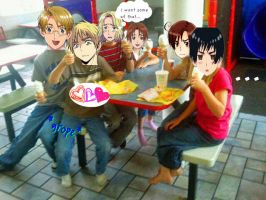 Hetalia at Mcdonalds... by CourtneyTDFantic