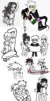 DANNY PHANTOM - Sketchdump 3 by loveangelmusic
