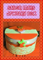 Sailor Mars Jewelry Box by querulousArtisan