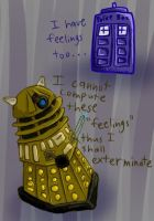 Doctor Who Doodle Lawling by LittleMads