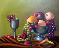 Fruit Bowl Still life by Red-Flare