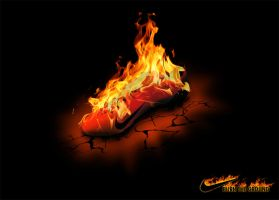 Nike - Burn the ground by diegoliv