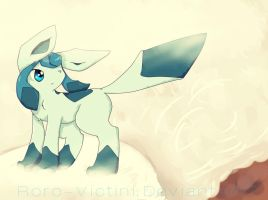 . Avalanche . Glaceon . by Rorosaur