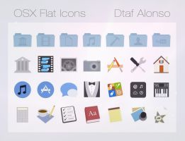 OSX Flat icons by dtafalonso