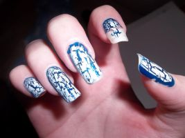 Shattered Glass Nails 2 by HarleyTheSirenxoxo