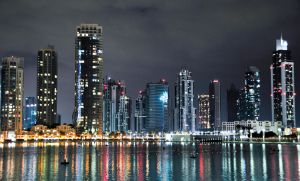 Dubai at night by georges-dahdouh
