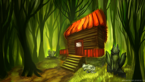 Art Trade: Peaceful Forest Temple by GenerallyIronicSoaps