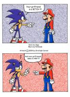 Sonic and Mario by FoxyChris
