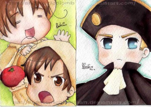 APH  HRE and Italias by ghostgirlcolombian