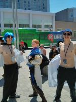 Hans joins Nudest Beach - Animazement 2014 by Kira-Kat