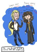 Hermione and Artemis: The Stupid Ginger Club by jets222