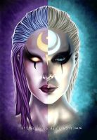 Two parties of the moon. by Artist-LaiNa