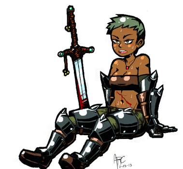 Barbarian girl by SharpArc
