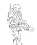 CSCP Army Trooper Sketch by 123GOHANZ