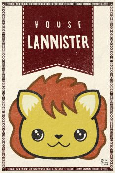 Game of Thrones Lannister kawaii house banner by jaleh