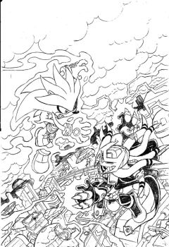 Sonic Universe #28 Cover Pencils by Yardley