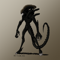 HALLOWEEN 2016 Day 12: The Xenomorph by KrisSmithDW