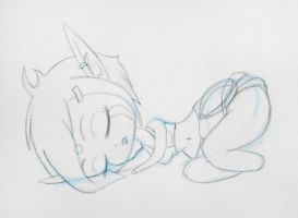 Napping Alyce Sketch by DrinkTeaOrDie